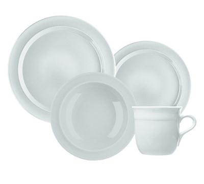 Emile Henry 0588073 Dinnerware Set - (1) Cereal Bowl, (1) Salad Plate & (1) Dinner Plate, Blanc