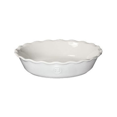 """Emile Henry 236121 9"""" Round Ceramic Pie Dish w/ 1.7 qt Capacity, Sugar"""