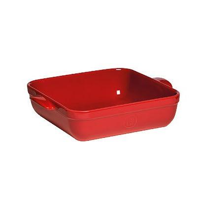 "Emile Henry 342040 9"" Square Ceramic Baking Dish w/ 2.5-qt Capacity, Burgundy"