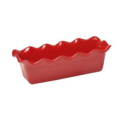 """Emile Henry 346387 2 qt Ceramic Loaf Pan, 12.5x6"""", Burgundy"""