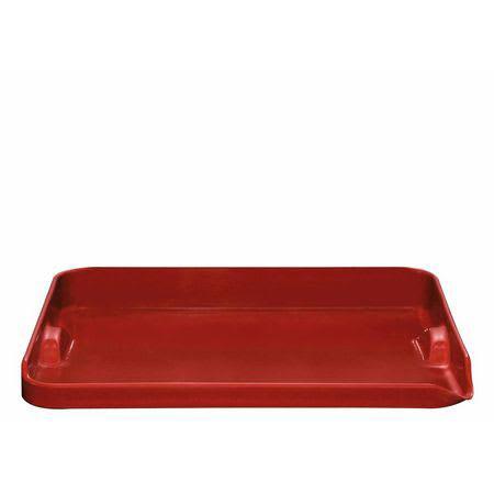 "Emile Henry 347546 Ceramic Plancha, 15.5x12x2"", Burgundy"