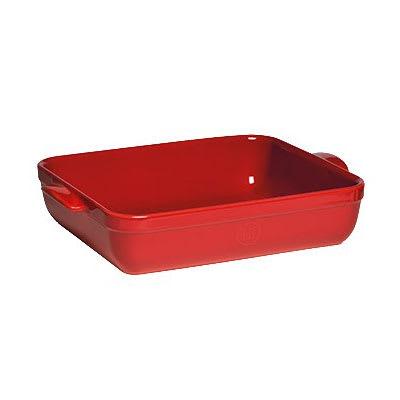 "Emile Henry 349644 6.3-qt Ceramic Baking Dish, 16.75x11x3"", Burgundy"