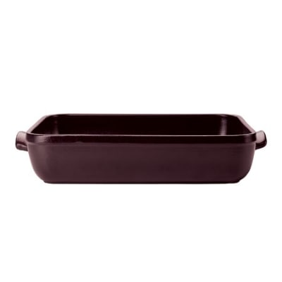 Emile Henry 377536 6-3/10 qt Ceramic Flame Top Large Roaster, 17-1/5 x 11-1/5 in, Figue Purple