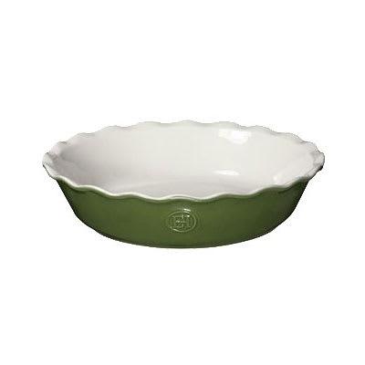 """Emile Henry 626121 9"""" Round Ceramic Pie Dish w/ 1.7 qt Capacity, Spring"""