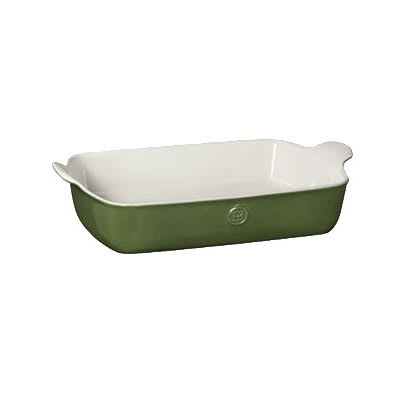 "Emile Henry 629626 4.7 qt Ceramic Baking Dish, 13x9"", Spring"