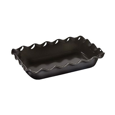 "Emile Henry 791987 3.3 qt Ceramic Baking Dish, 14x10x2.75"", Charcoal"