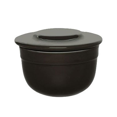 """Emile Henry 798621 4"""" Round Ceramic Butter Pot w/ 7-oz Capacity, Charcoal"""