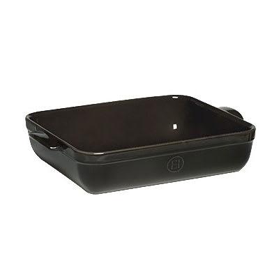"Emile Henry 799642 Ceramic Lasagna Dish w/ 5 qt Capacity, 13.8x10x2.75"", Charcoal"