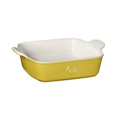 "Emile Henry 852023 8"" Square Ceramic Baking Dish w/ 2 qt Capacity, Leaves"