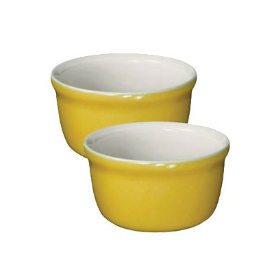 "Emile Henry 854020 3.5"" Round Ceramic Ramekin Set w/ 7.6 oz Capacity, Leaves"