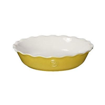 "Emile Henry 856121 9"" Round Ceramic Pie Dish w/ 1.7 qt Capacity, Leaves"