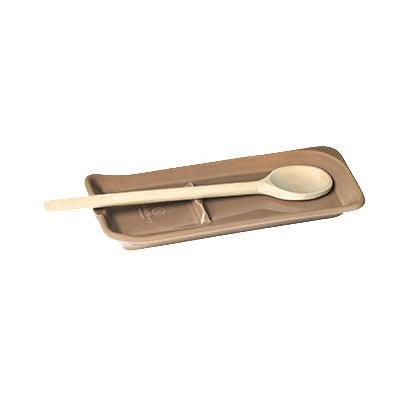 "Emile Henry 960262 Ceramic Spoon Rest, 9x4"", Oak"