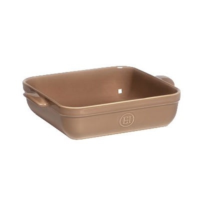 "Emile Henry 962040 9"" Square Ceramic Baking Dish - 2.5 qt Capacity, Oak"