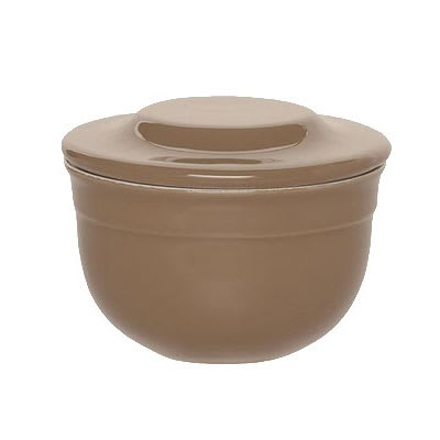 "Emile Henry 968621 4"" Round Ceramic Butter Pot w/ 7-oz Capacity, Oak"