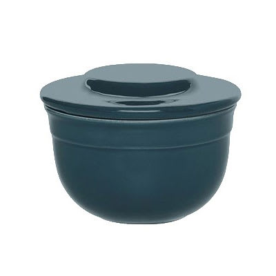 """Emile Henry 978621 4"""" Round Ceramic Butter Pot w/ 7 oz Capacity, Blue Flame"""