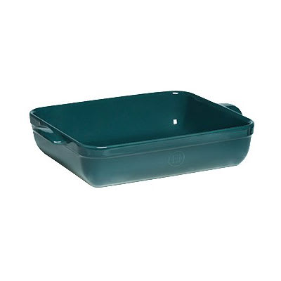 "Emile Henry 979642 Ceramic Lasagna Dish w/ 5 qt Capacity, 13.8x10x2.75"", Blue Flame"
