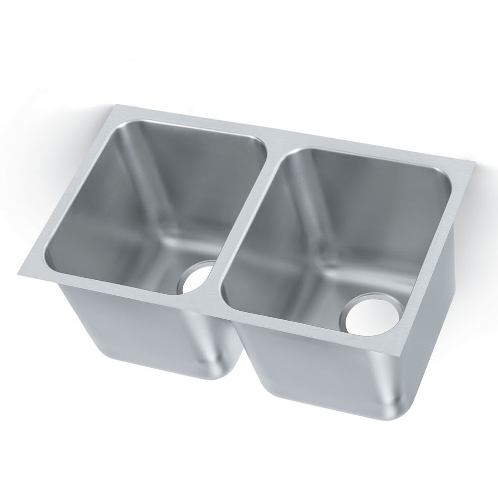 "Vollrath 12122-1 (2) Compartment Undermount Sink - 14"" x 12"""