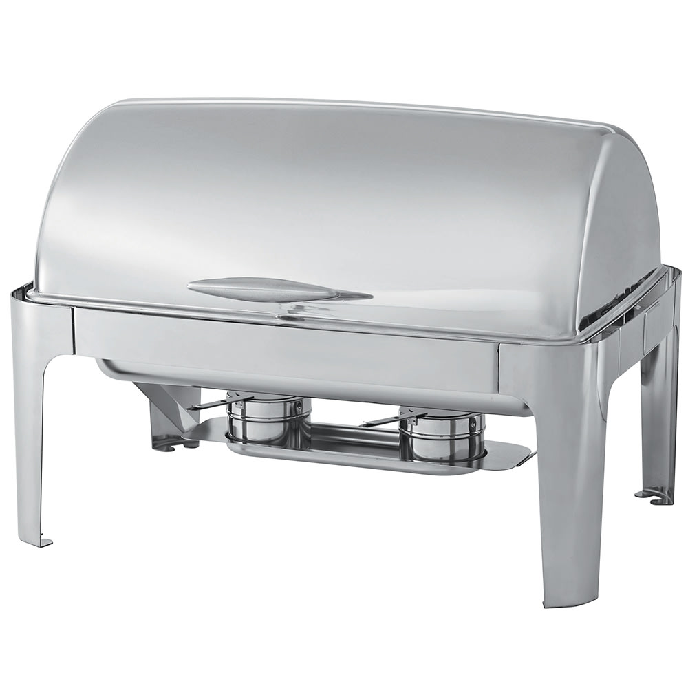 Vollrath T3500 Full Size Chafer w/ Roll-top Lid & Chafing Fuel Heat