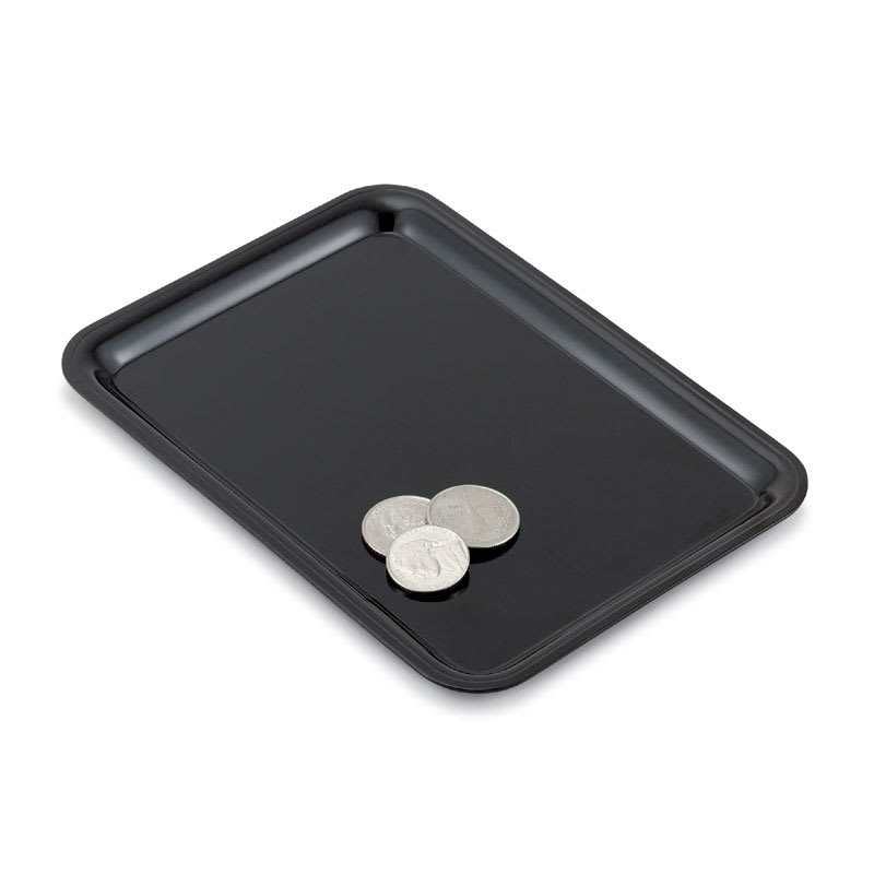"""Vollrath 1000-06 Tip Tray, Oblong, 4.5 x 6.5"""", Black, Scratch Resistant"""