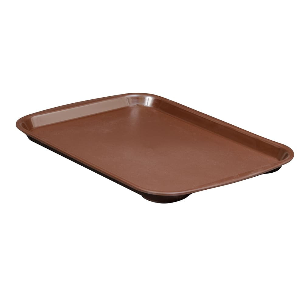 """Vollrath 1014-01 Plastic Fast Food Tray - 14.3""""L x 10.6""""W, Brown"""