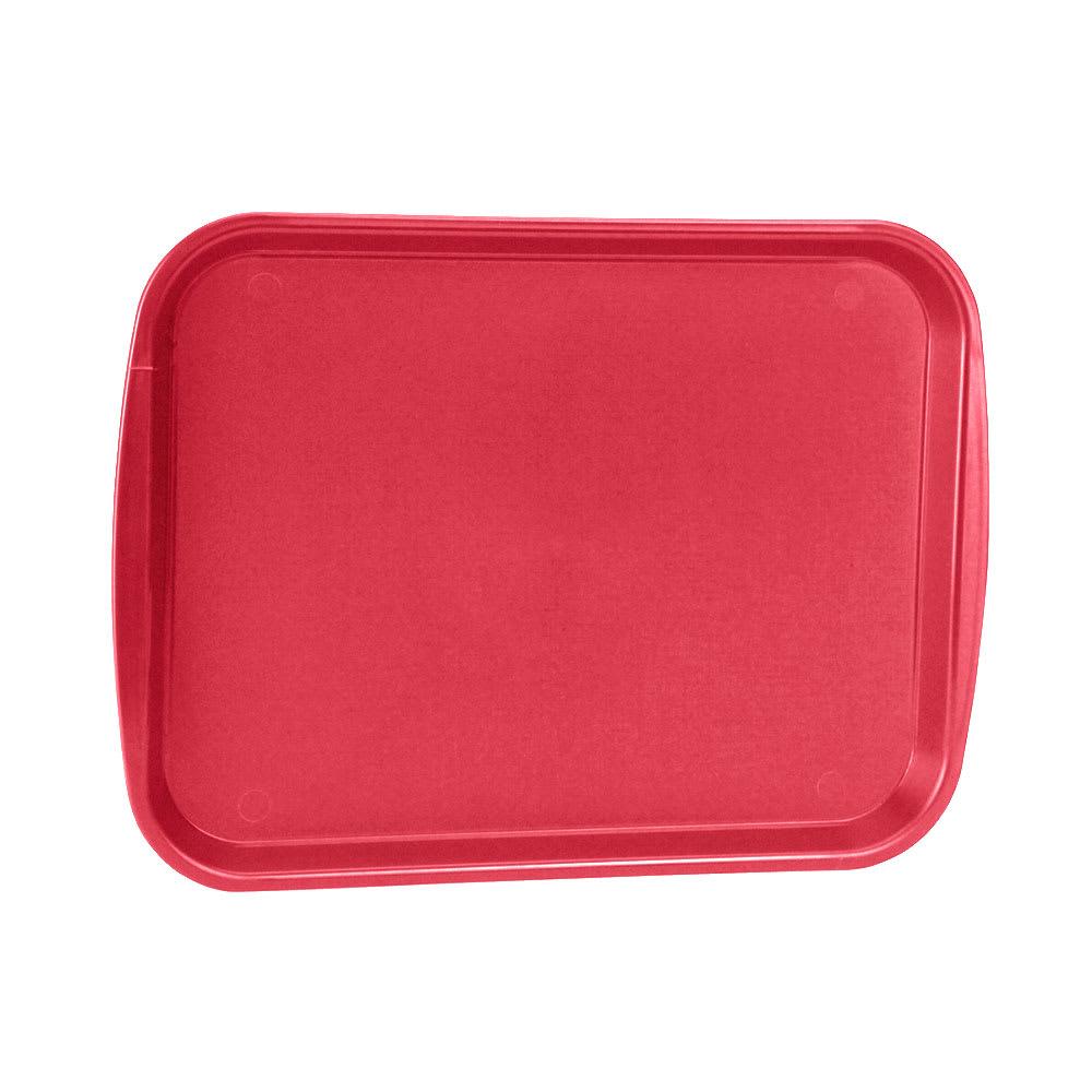 """Vollrath 1014-02 Rectangular Food Tray - Linen Look, 10-9/16 x 14-1/4"""", Red"""