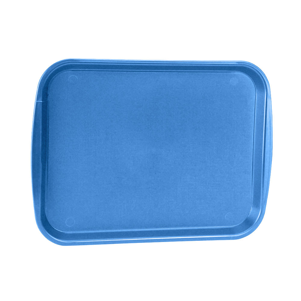 "Vollrath 1014-04 Plastic Fast Food Tray - 14.3""L x 10.6""W, Blue"