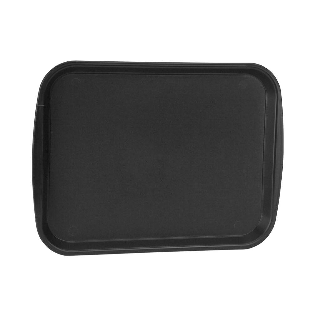 "Vollrath 1014-06 Rectangular Food Tray - Linen Look, 10-9/16 x 14-1/4"", Black"