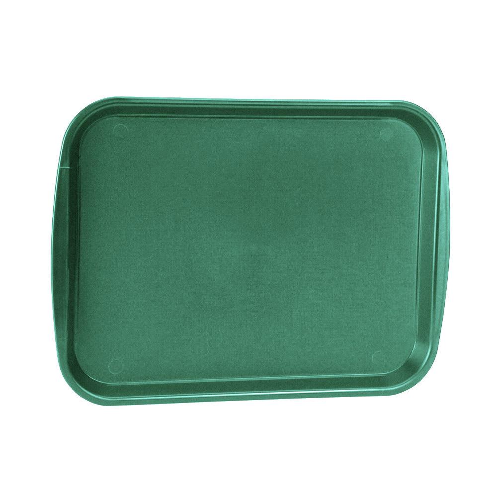 "Vollrath 1014-191 Rectangular Food Tray - Linen Look, 10 9/16 x 14 1/4"", Green"