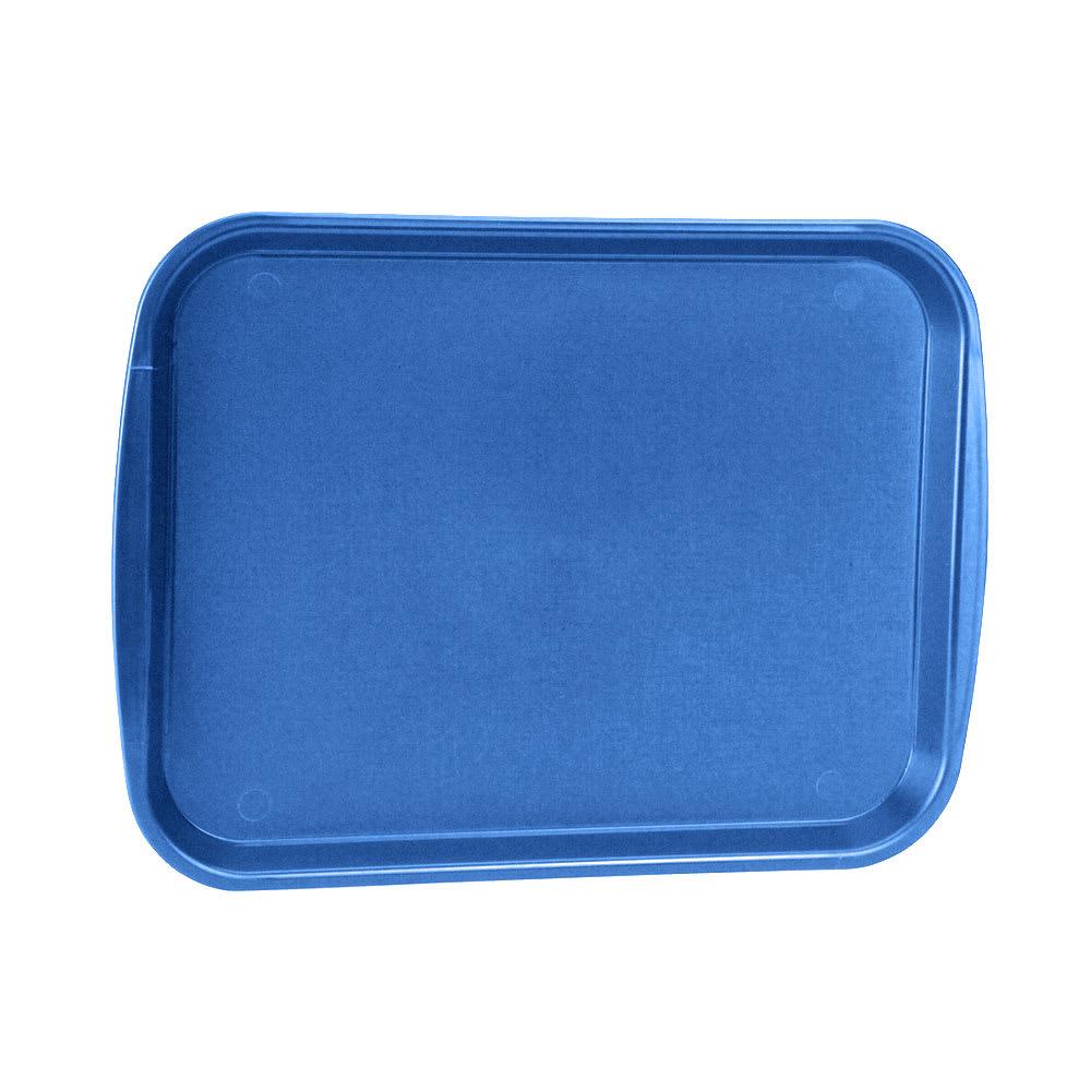"Vollrath 1014-44 Rectangular Food Tray - Linen Look, 10-9/16 x 14-1/4"", Royal Blue"