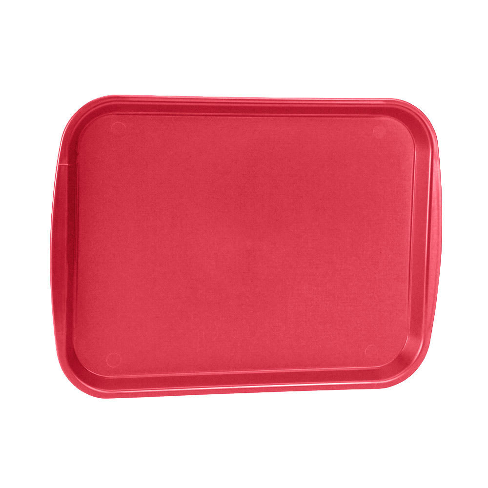 "Vollrath 1216-02 Rectangular Fast Food Tray - 12 1/8x17 3/16"", Plastic, Red"