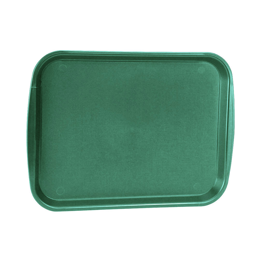 "Vollrath 1216-191 Plastic Fast Food Tray  - 17.1""L x 12.1""W, Vista Green"