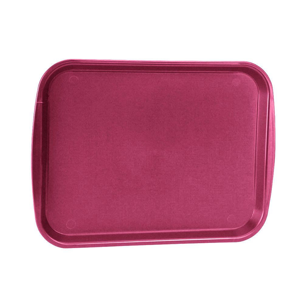 "Vollrath 1216-21 Rectangular Fast Food Tray - 12 1/8x17 3/16"", Plastic, Burgundy"