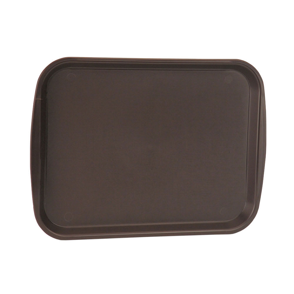 "Vollrath 1217-01 Rectangular Fast Food Tray - 12x17"" Plastic, Brown"