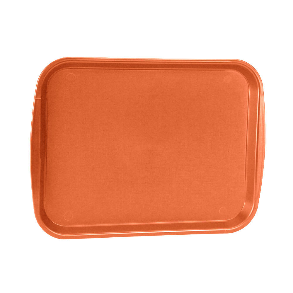 "Vollrath 1217-03 Plastic Fast Food Tray  - 17""L x 12""W, Orange"