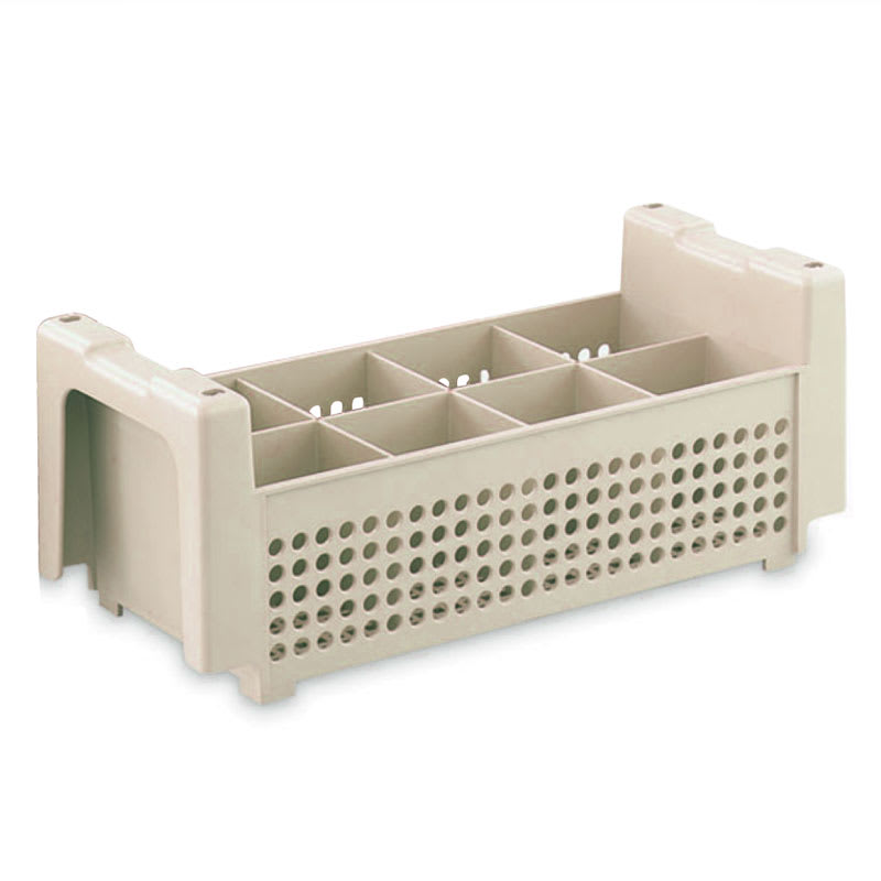 "Vollrath 1371 Flatware Basket - 8 Compartment, 16 7/8x8 1/8x5 7/8"", Beige"
