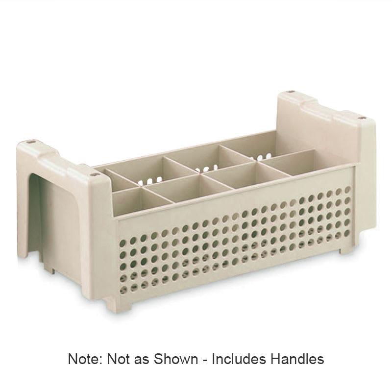 """Vollrath 1372 Flatware Basket - 8 Compartment, Handles, 16 7/8x8 1/8x5 7/8"""", Beige"""
