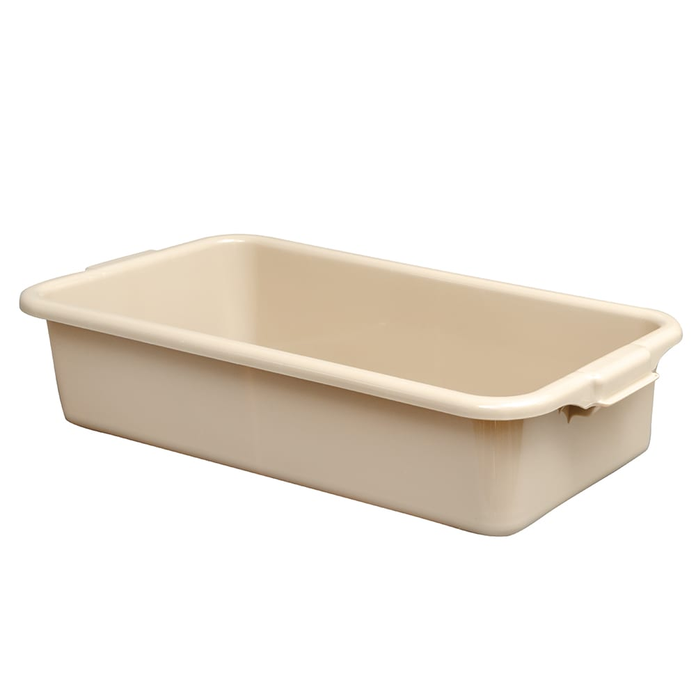 "Vollrath 1390 1-Compartment Soak Tub Bus Box - 24-1/2 x 13-3/8"", Poly, Beige"