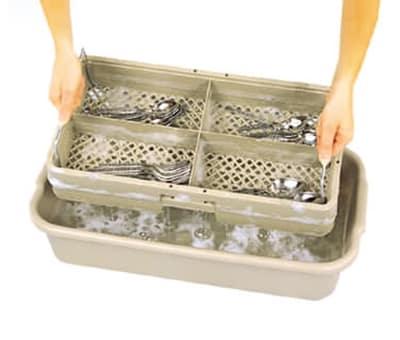"""Vollrath 1394 Soak System - 5"""" Drain Box, 5"""" Soak Box, Half Size"""