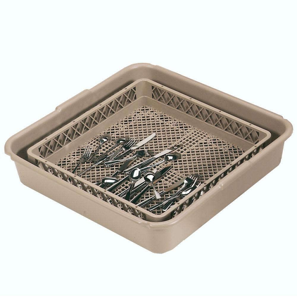 Vollrath 1397 Flatware Dishwasher Rack - Full Tub & Open Rack, Poly, Beige