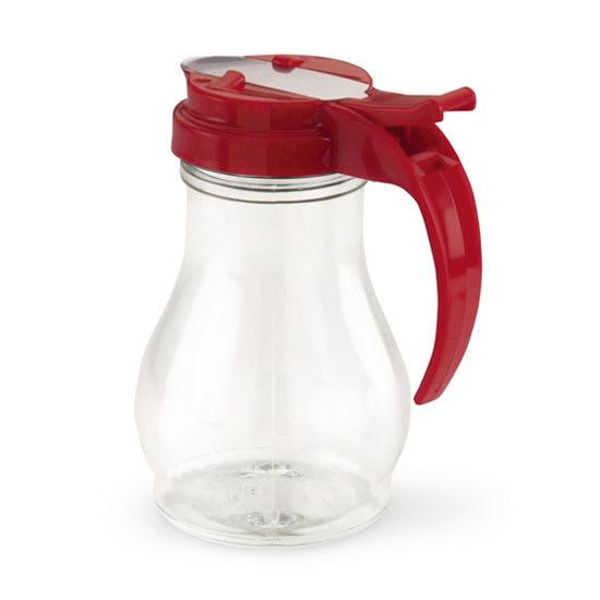 Vollrath 1412-02 Dripcut Server Jar, 10-oz, Clear Poly Jar w/ Red Plastic Top