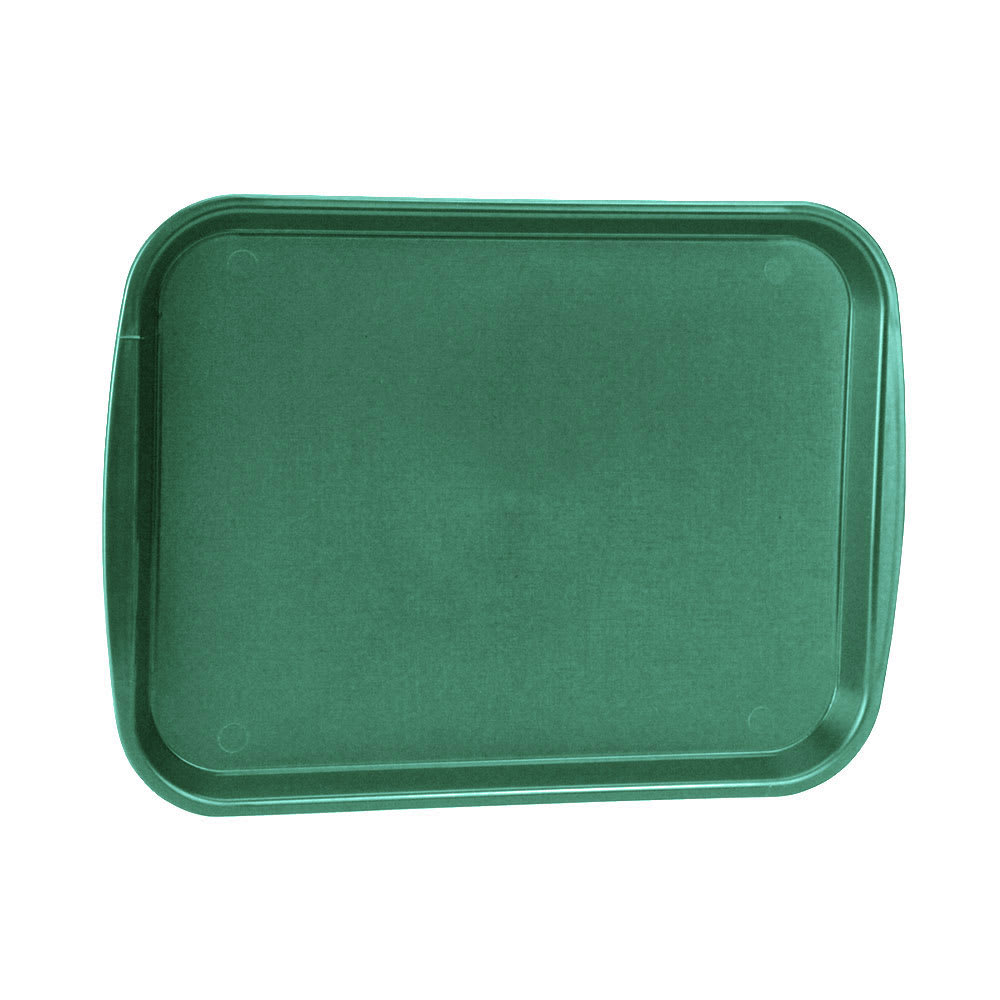 "Vollrath 1418-191 Rectangular Fast Food Tray - 13-7/8 x 18-1/2"", Plastic, Vista Green"