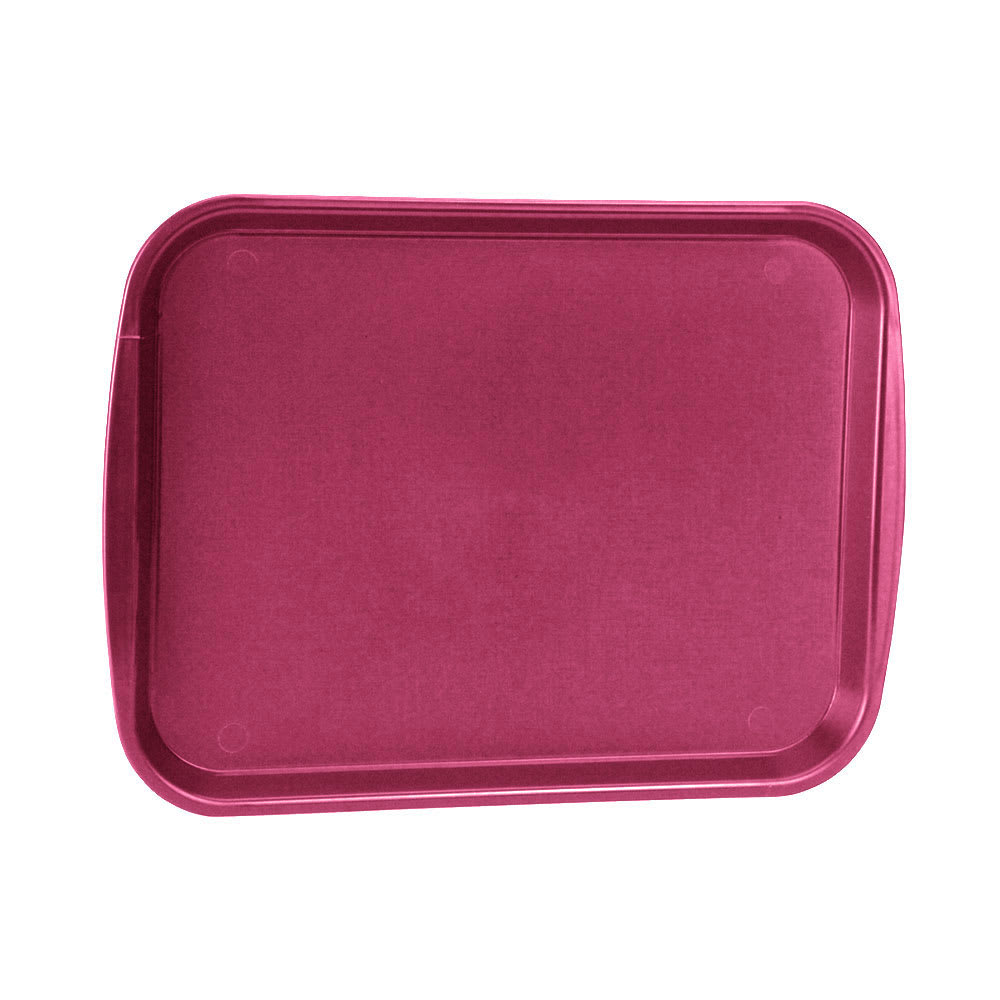 "Vollrath 1418-21 Rectangular Fast Food Tray - 13-7/8 x 18-1/2"", Plastic, Burgundy"
