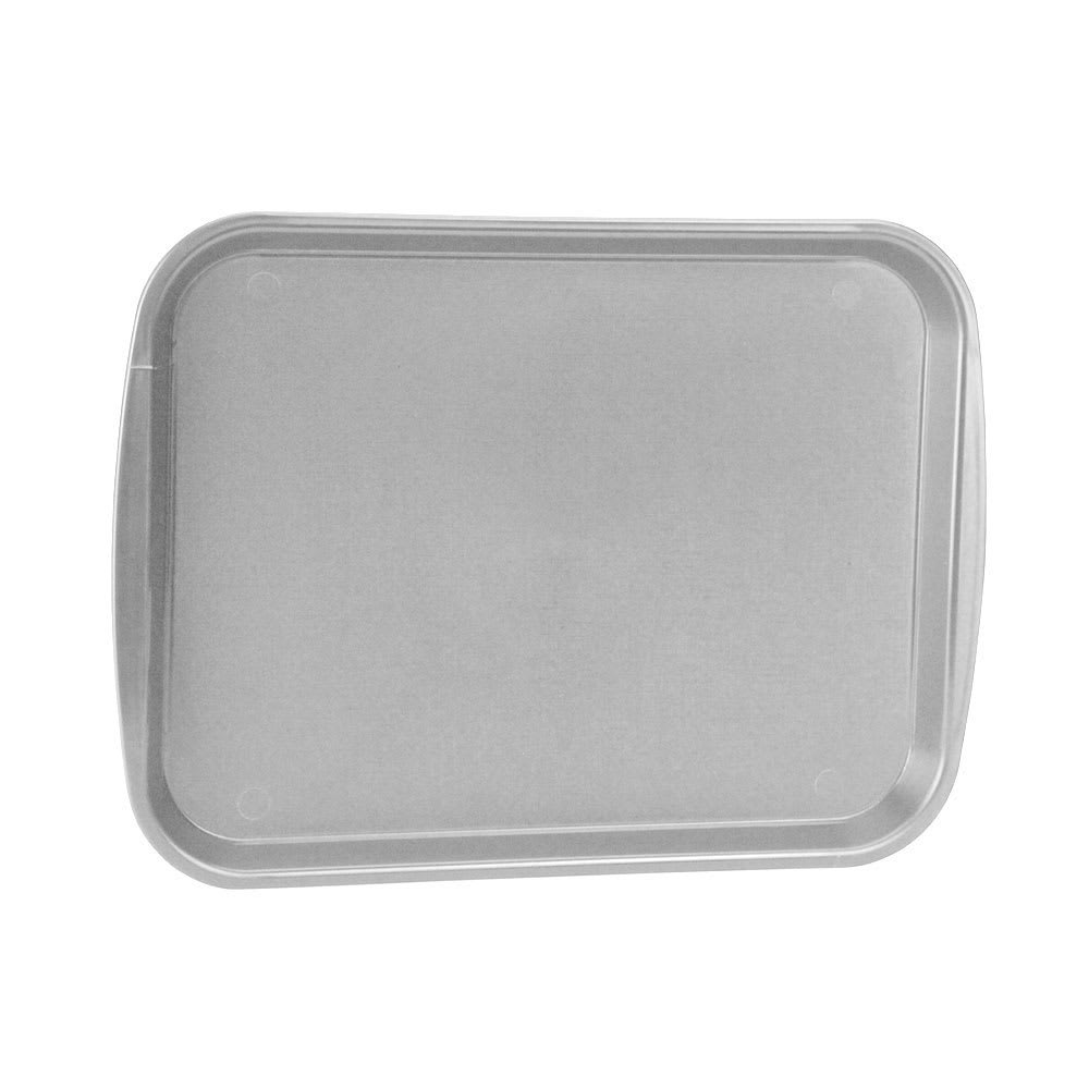 "Vollrath 1418-31 Rectangular Fast Food Tray - 13-7/8 x 18-1/2"", Plastic, Gray"