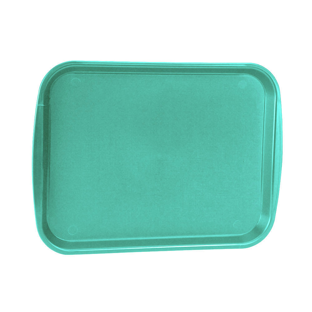"Vollrath 1418-33 Rectangular Fast Food Tray - 13 7/8 x 18 1/2"", Plastic, Teal"