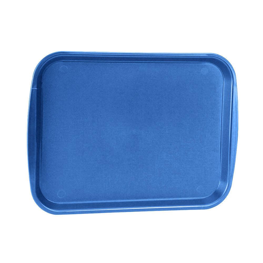 "Vollrath 1418-44 Rectangular Food Tray - 13-7/8 x 18-1/2"", Plastic, Royal Blue"