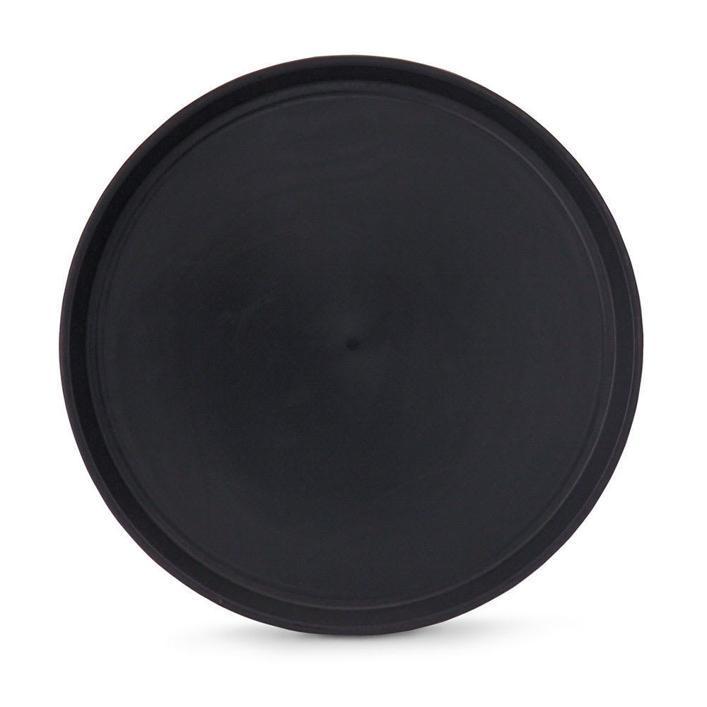 "Vollrath 1474-0606 14"" Round Serving Tray - Reinforced Plastic, Black"