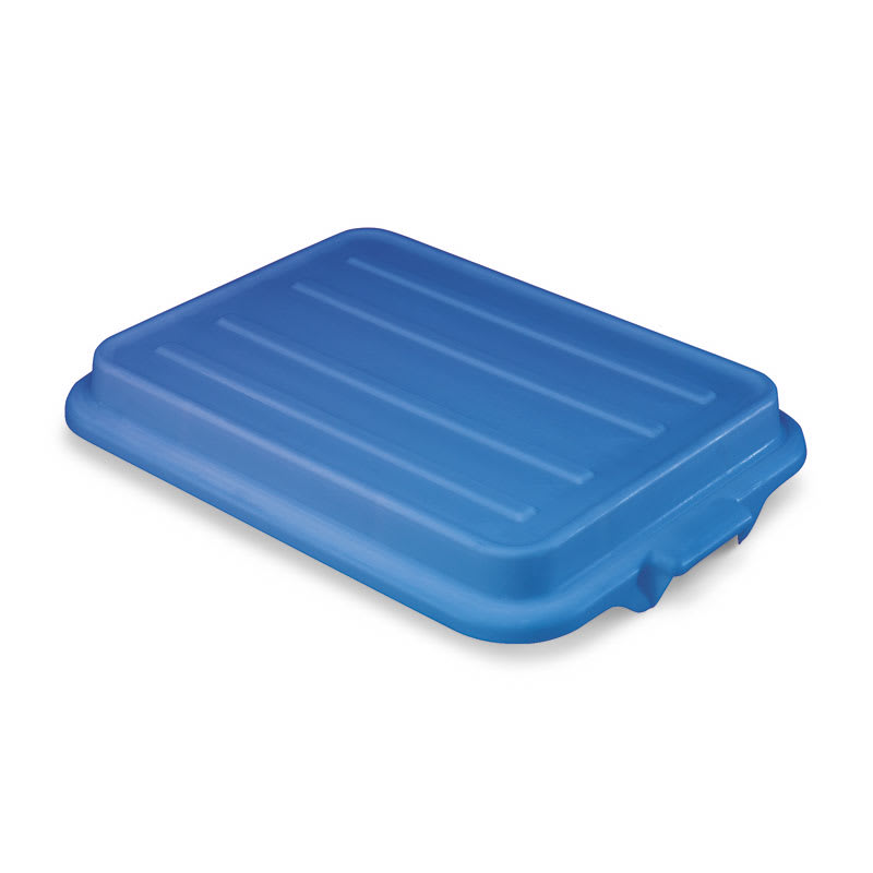 "Vollrath 1500-C04 Food Storage Box Cover - Snap-On, 22 1/8x15 5/8x2 1/2"", Poly, Blue"