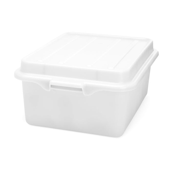 "Vollrath 1501-C05 Food Storage Drain Box - With Cover, 15x20x5"", White"