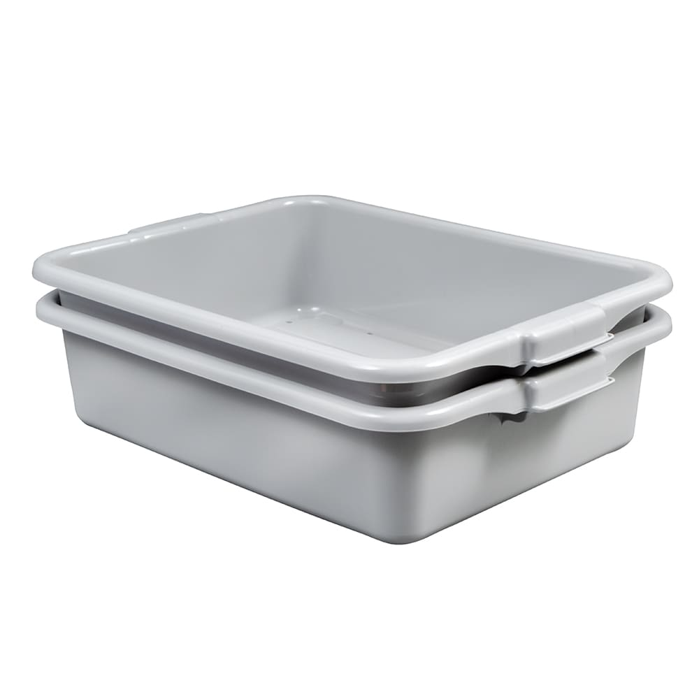 """Vollrath 1502-31 Dish Soak System - Drain and Soak Box, 20x15x5-3/4"""", Plastic, Gray"""