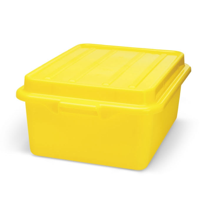"Vollrath 1505-C08 Food Storage Drain Box - With Cover, 15x20x7"", Yellow"